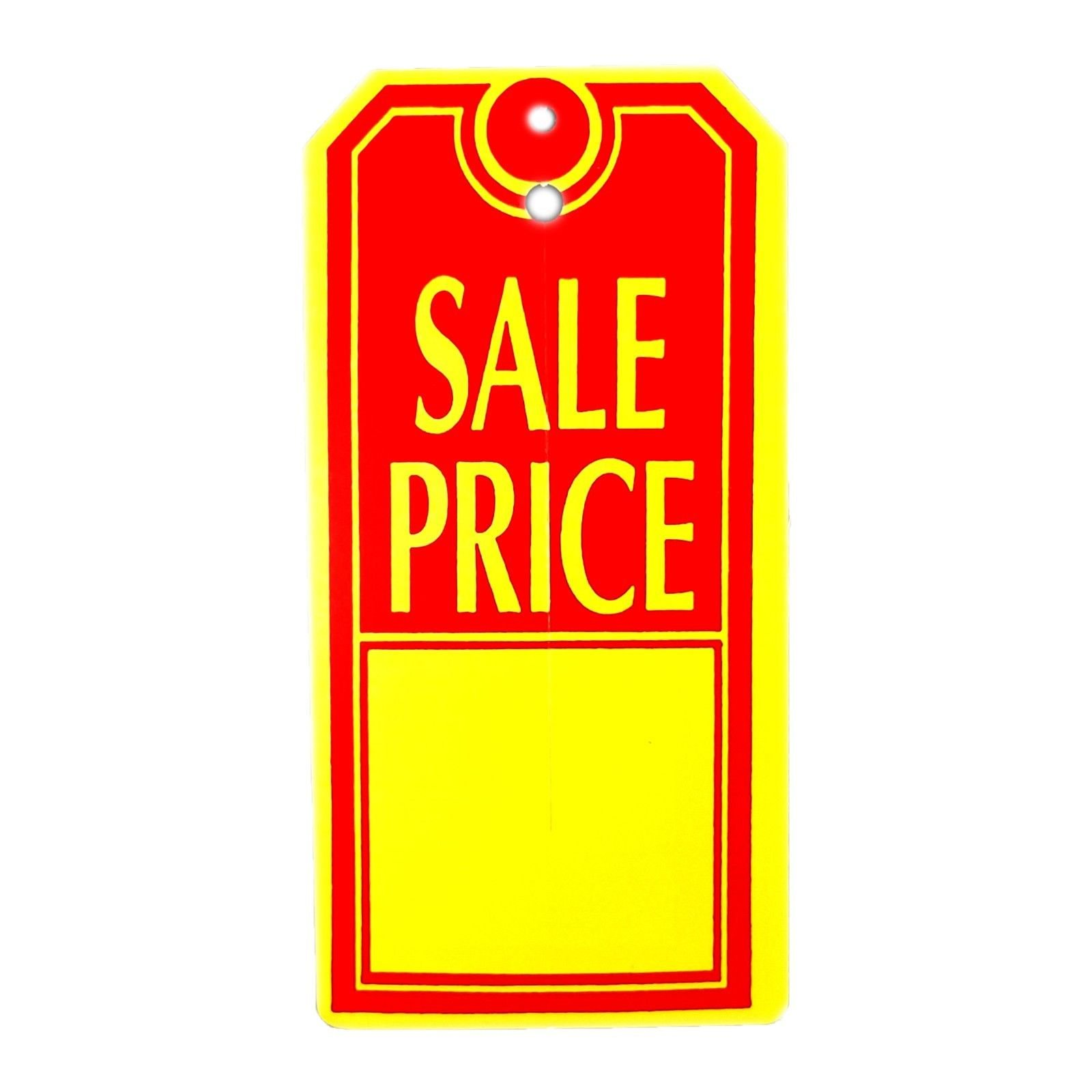 Sale Price Tags, 2.4'' W x 4.8'' H, Large Red & Yellow Merchandise Retail Labels - 1000 Pack