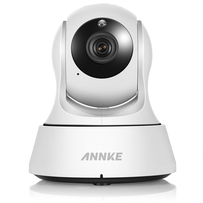 ANNKE HD720P Wireless WiFi IP Security Camera for Home Surveillance System, Pan/Tilt, IR Cut Filter, 2 Way Audio(NO SD Card)