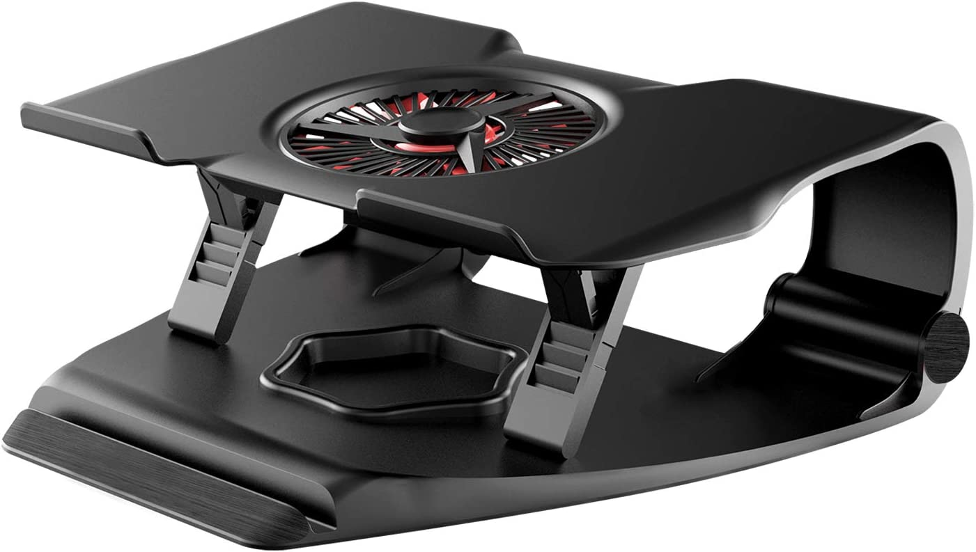 Adjustable Laptop Stand with Cooling Fan Portable with 2 USB Powered Ports Notebook Stand for Office Home and School