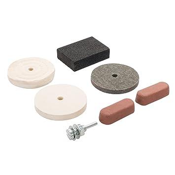 Silverline 7pc Drill Buffing /& Polishing Kit Cotton Felt Woven Wheel Compound