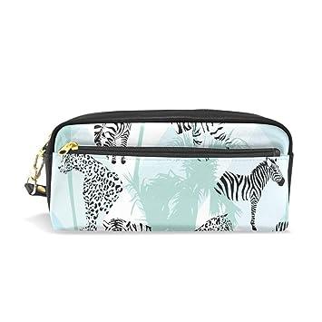 Amazon.com: XLING Pencil Case Abstract Animal Zebra Tiger ...
