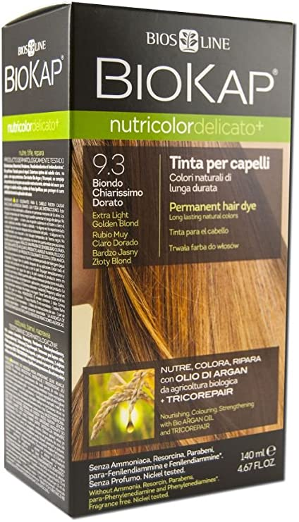 Biokap Tinte Delicato Plus Extra Light Golden 93+ 140Ml 1 Unidad 500 g