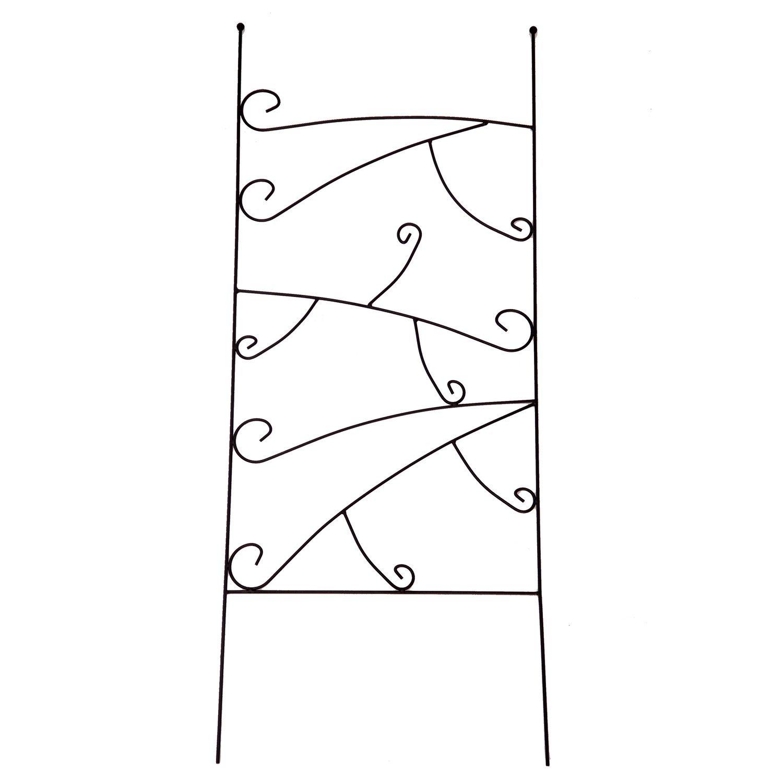 1. GO Metal Garden Trellis Panel for Climbing Plants, 19'' Wide x 48'' High, OG-0013