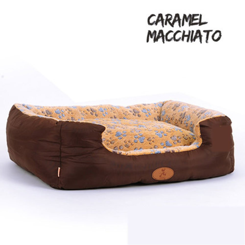 C75X62X25CM Pet Bed Dog Bed Detachable Soft High Density Foam Mattress Anti-slip Homes Mat Medium &Large Dogs All Season