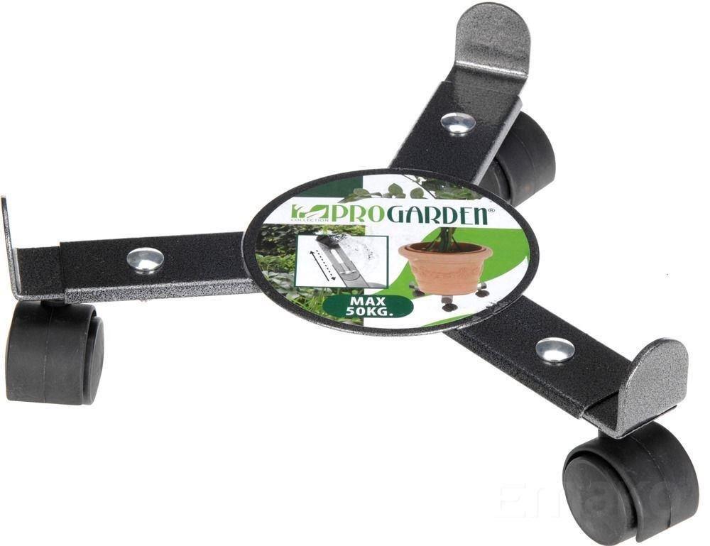 Set of 2 Plant Roller Stand trolley on Wheels Adjustable Width Metal Garden Planter Espice