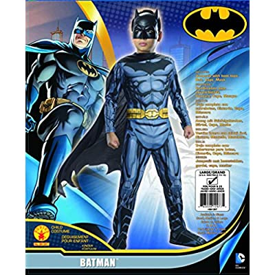 Rubies DC Super Heroes Child Batman Costume, Small (4-6): Toys & Games