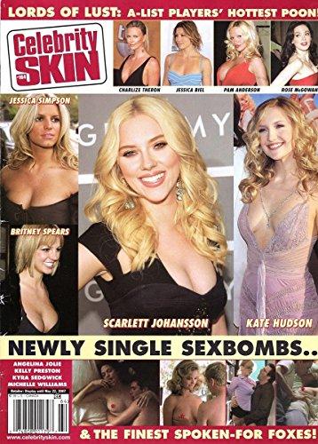 Celebrity Skin Adult Magazine March 2007 Sienna Miller, Kate Moss & Jessica Biel