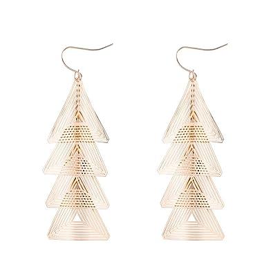 Amazon Com Fashion Pagoda Earrings Women S Geometric Hollow