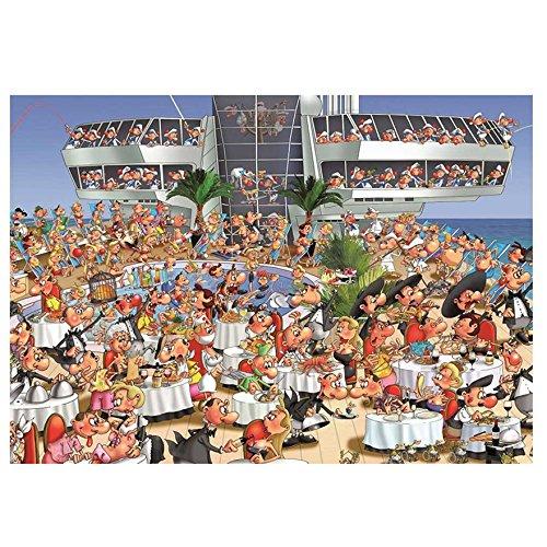 Piatnik Cruise Ship 1000 Piece Francois Ruyer Jigsaw Puzzle