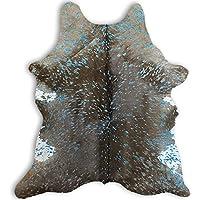 RODEO Blue & Brown Acid Wash Calfskin Rug