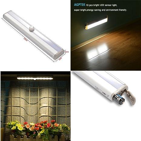 Lámpara LED Adhesivo con banda magnética/Sensor de movimiento de luz LED para Escaleras Armarios