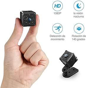 Mini Camara Espia Oculta Video Cámara, FREDI 1080P HD Cámara Portátil Interior/Camaras de Seguridad Pequeña Interior/Exterior/IR Visión Nocturna
