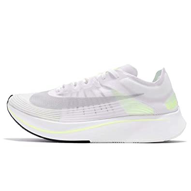 89c748504 Amazon.com | Nike Men's Zoom Fly SP Running Shoes-White/Volt Glow-8 |  Fashion Sneakers