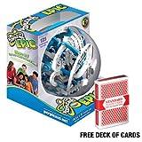 Perplexus PlaSmart Epic Maze Game 125 Challenging Barriers with Deck of Cards
