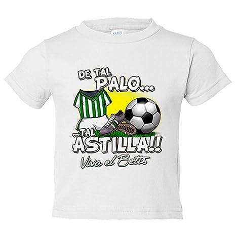Camiseta niño De tal palo tal astilla Betis fútbol - Blanco, 3-4 años