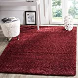 Safavieh California Shag Collection SG151-4242 Maroon Area Rug (6'7'' x 9'6'')
