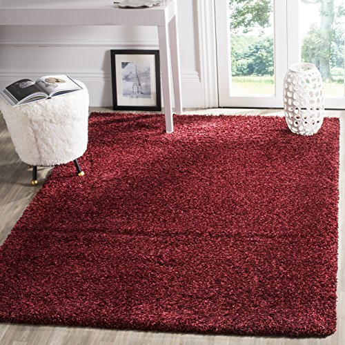 Safavieh California Premium Shag Collection SG151-4242 Maroon Area Rug (3' x -