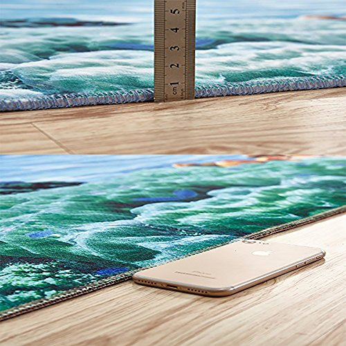 Non-slip Thicken Carpet diamond luxury background Easier to Dry for Bathroom W39'' x H16'' by Auraise Home (Image #2)