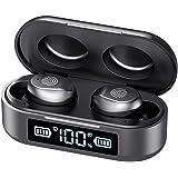 True Wireless Earbuds, Bluetooth 5.0 in-Ear Headphones with Charging Box, IPX7 Waterproof Stereo Headphones in-Ear Earphones,