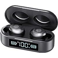 True Wireless Earbuds, Bluetooth 5.0 in-Ear Headphones with Charging Box, IPX7 Waterproof Stereo Headphones in-Ear…