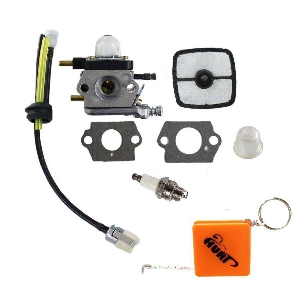 HURI Carburetor with Air Filter Fuel Line Kit for Echo Mantis Tiller 7222 7222E 7222M 7225 7230 7240 7920 7924 SV-4B SV-5C TC-2100 LHD-1700