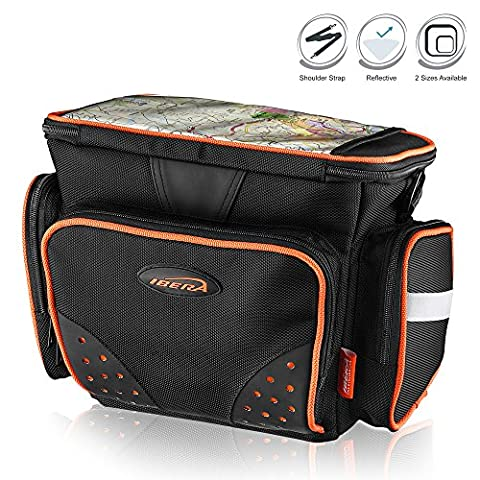 lbera IB-HB4 Bike Handlebar Bag with Padded Shoulder Strap, Small