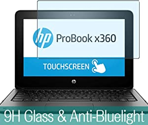 "Synvy Anti Blue Light Tempered Glass Screen Protector for HP ProBook x360 11 G1 EE 11.6"" Visible Area 9H Protective Screen Film Protectors"