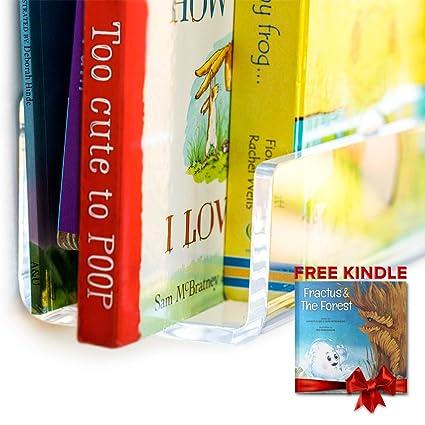 Amazon CLOUDZERO Acrylic Bookshelf Unbreakable 16 Inch
