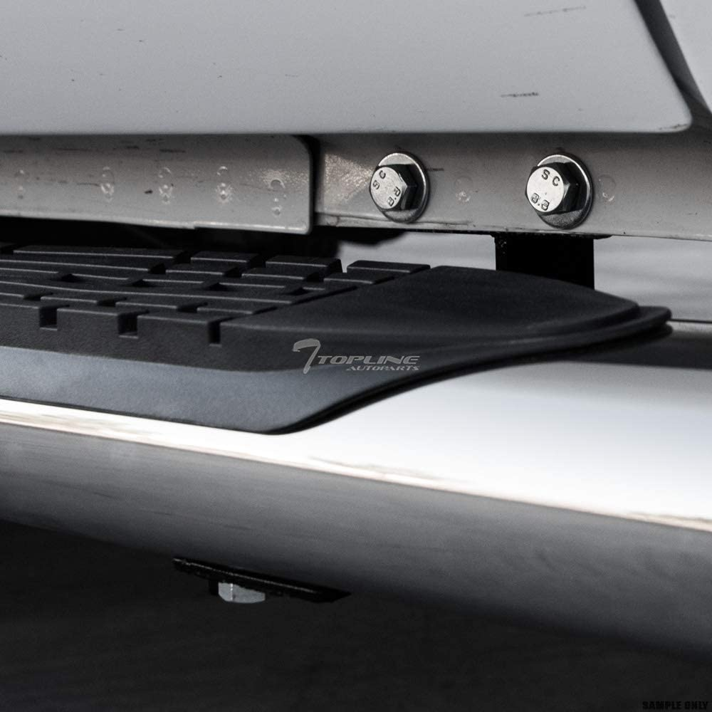 Topline Autopart 4 Oval Polished Stainless Steel Side Step Nerf Bars Rail Running Boards For 99-18 Chevy Silverado//GMC Sierra Double Extended Cab