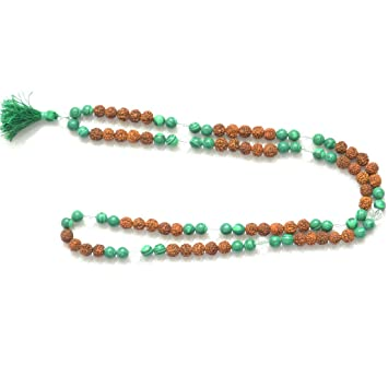 Amazon.com: Odishabazaar Malachite Unknoted Chakra Japa Mala ...