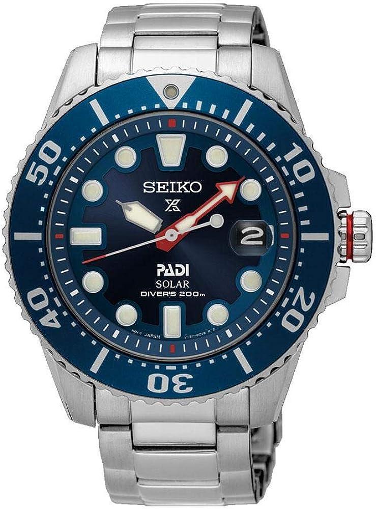 SEIKO PROSPEX SNE435P1 - Reloj analógico para Hombre, Color Plateado