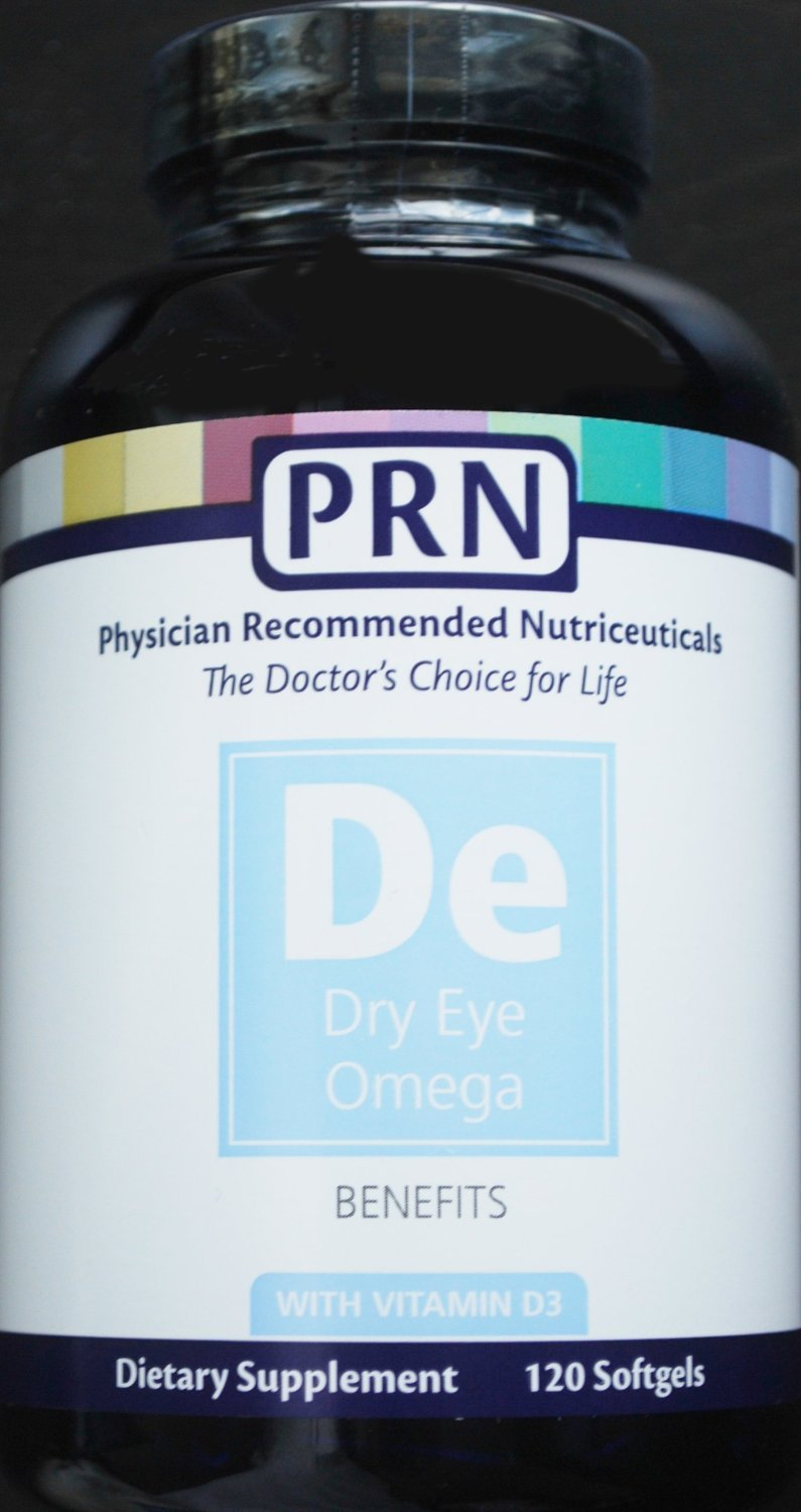 Physician Recommended Nutriceuticals PRN Omega Benefits Fish Oil - Two Bottles with 120 Softgels Each