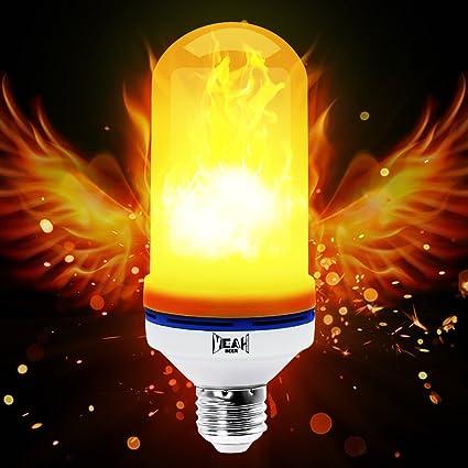 Amazon yeahbeer led flame effect light bulb e26 flickering yeahbeer led flame effect light bulb e26 flickering flame light bulbs 105pcs 2835 led mozeypictures Choice Image