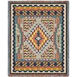 Southwest Turquoise Tapestry Size: 43'' X 53''
