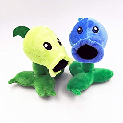 "TavasHome Plants vs Zombies Plush Toys Peashooter 17cm/6.7"" Tall - Ice Peashooter 6.7"" Tall, 2pcs Baby Stuffed Plush Toys: Toys & Games"