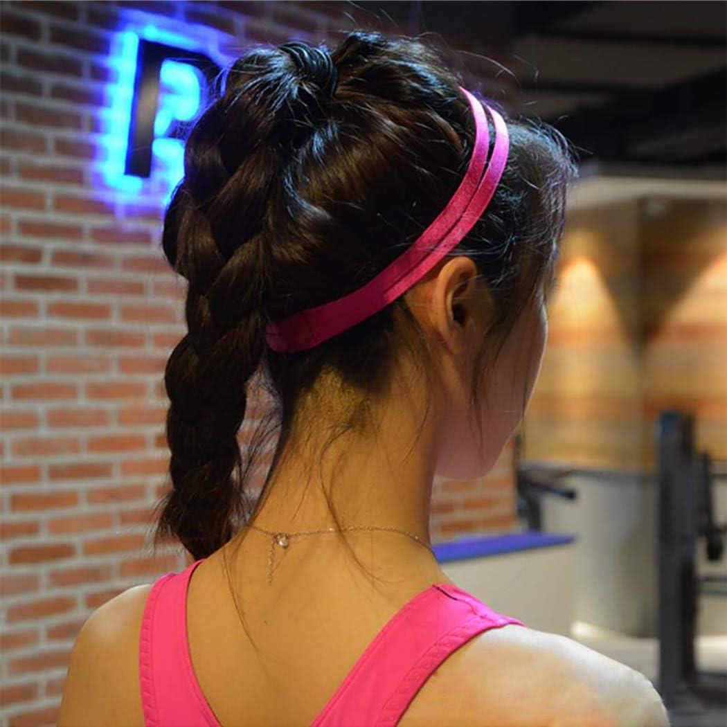 Diademas el/ásticas deportivas con doble trampa 4 unidades accesorios para el pelo para mujeres y ni/ñas con forro de silicona antideslizantes Edary