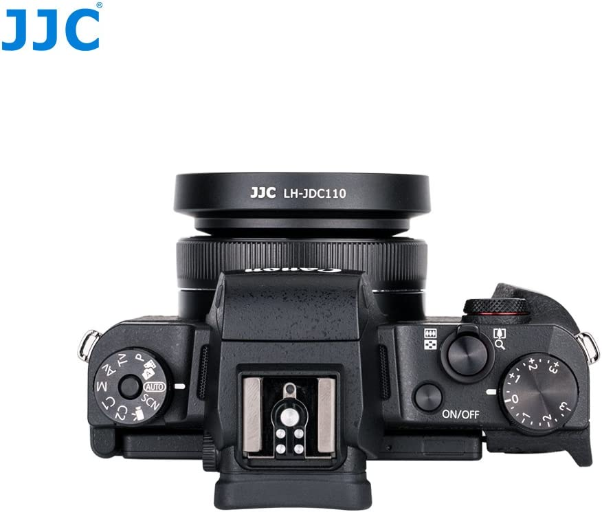 JJC LH-JDC110 Pare-Soleil pour Appareil Photo Canon Powershot G1X Mark III Noir
