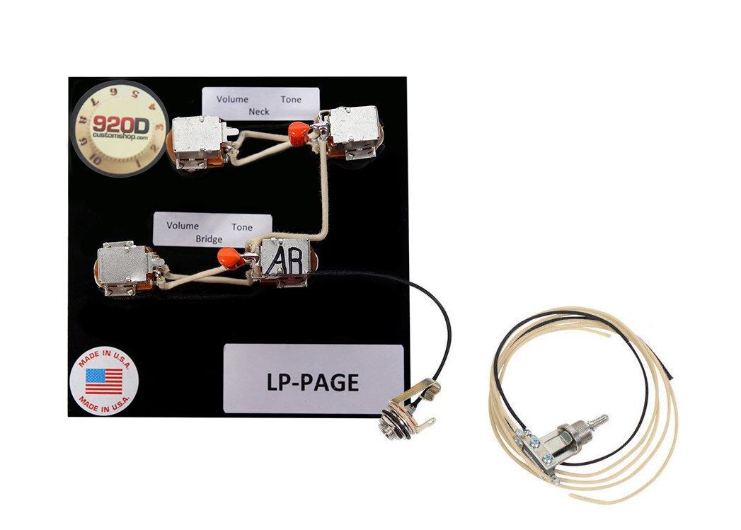 920D Custom Shop Les Paul Jimmy Page Verkabelung W/Switchcraft ...