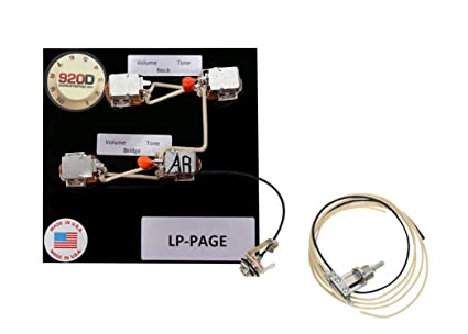 amazon com 920d custom shop les paul jimmy page wiring harness w jimmy page setup 920d custom shop les paul jimmy page wiring harness w switchcraft toggle
