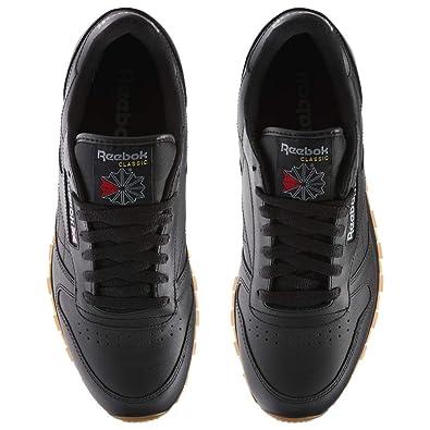 Reebok Men's Classic Leather Fashion Sneaker (44 M EU 10.5 D(M) US, Us BlackGum)