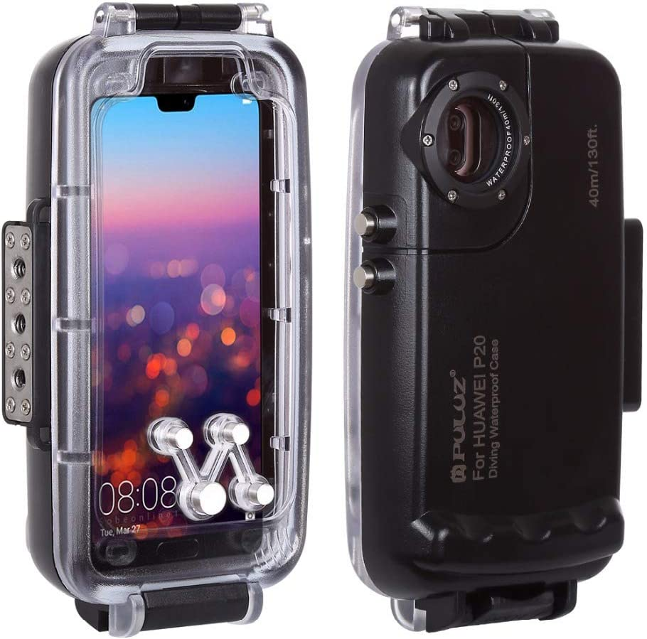 White OUYAWEI for PULUZ 40m//130ft Waterproof Case Diving Housing Underwater Cover Case for Samsung Galaxy S9 S9 Plus Galaxy S9