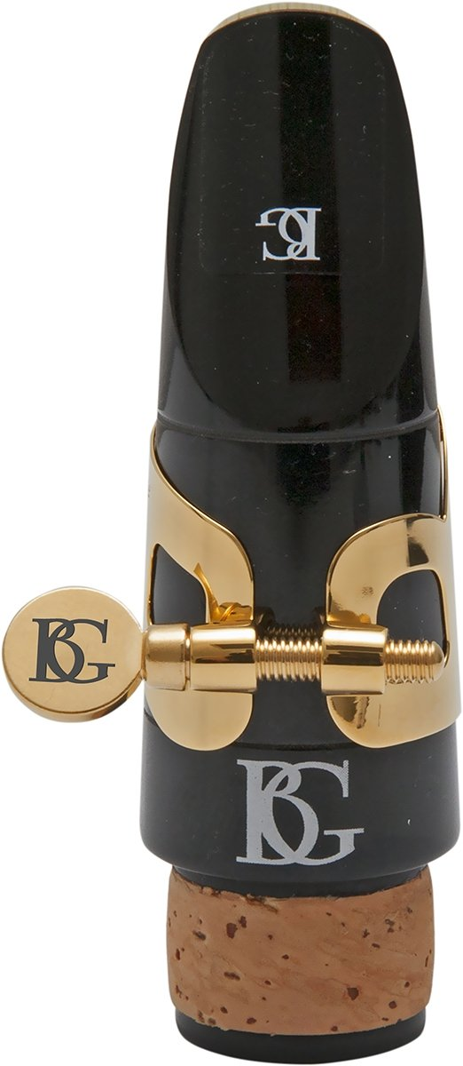 BG L91 Ligature with Cap, Bass Clarinet Ligature, Trad, Gold Plate