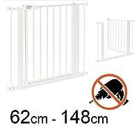 TOM - Barrière de Sécurité - 75 – 148 cm | Sans perçage | escalier et porte