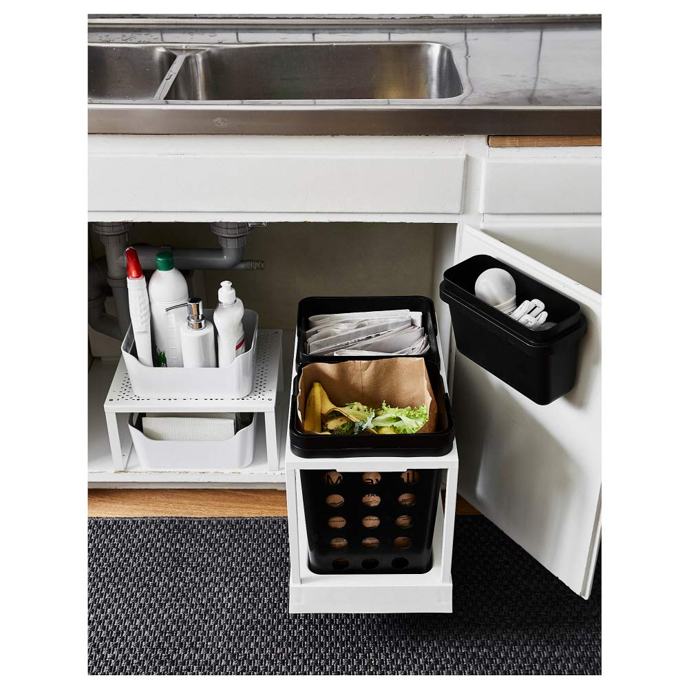 Amazon Com Ikea Asia Variera Waste Sorting Bin Black Home