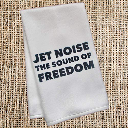 Patriotic Military Hand Towel - Jet Noise the Sound of Freedom - Gift for Pilot