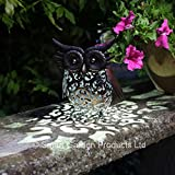 Smart Garden Metal Scroll Owl Sola