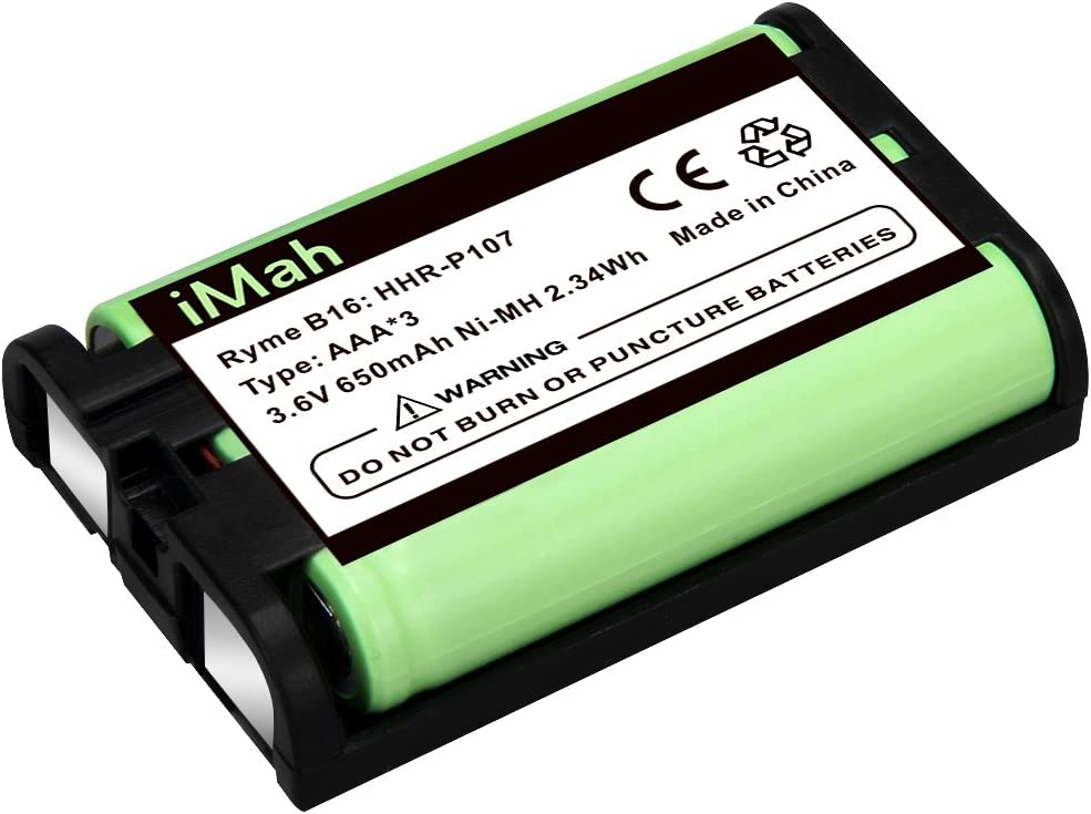 iMah HHR-P107 3.6V 650mAh Cordless Phone Battery Compatible with ...