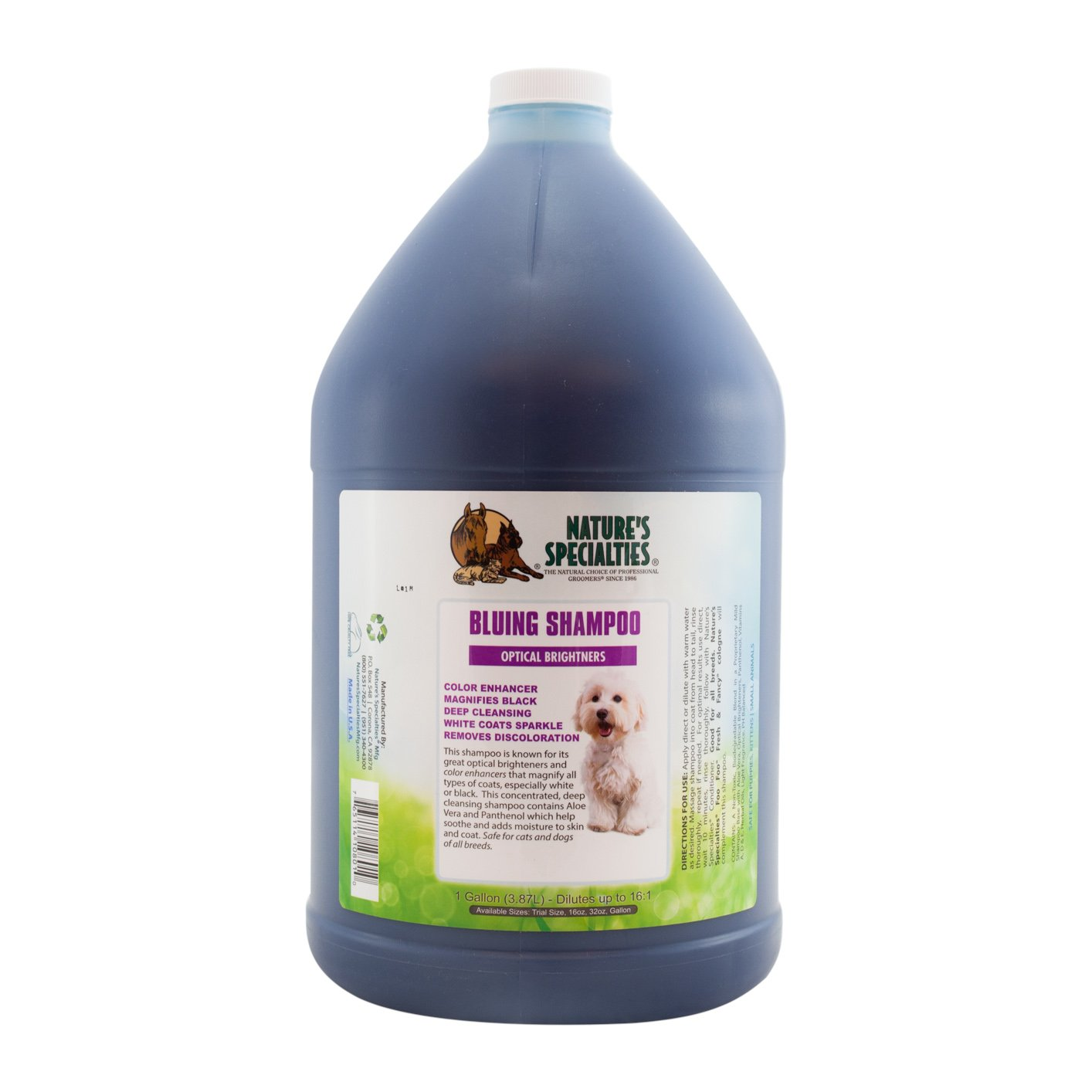 Nature's Specialties Bluing Pet Shampoo with Optical Brighteners by Nature's Specialties Mfg