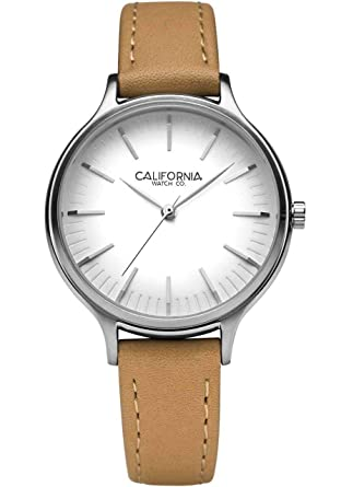 Amazon.com: California Watch Co. Laguna 34 Leather Natural ...