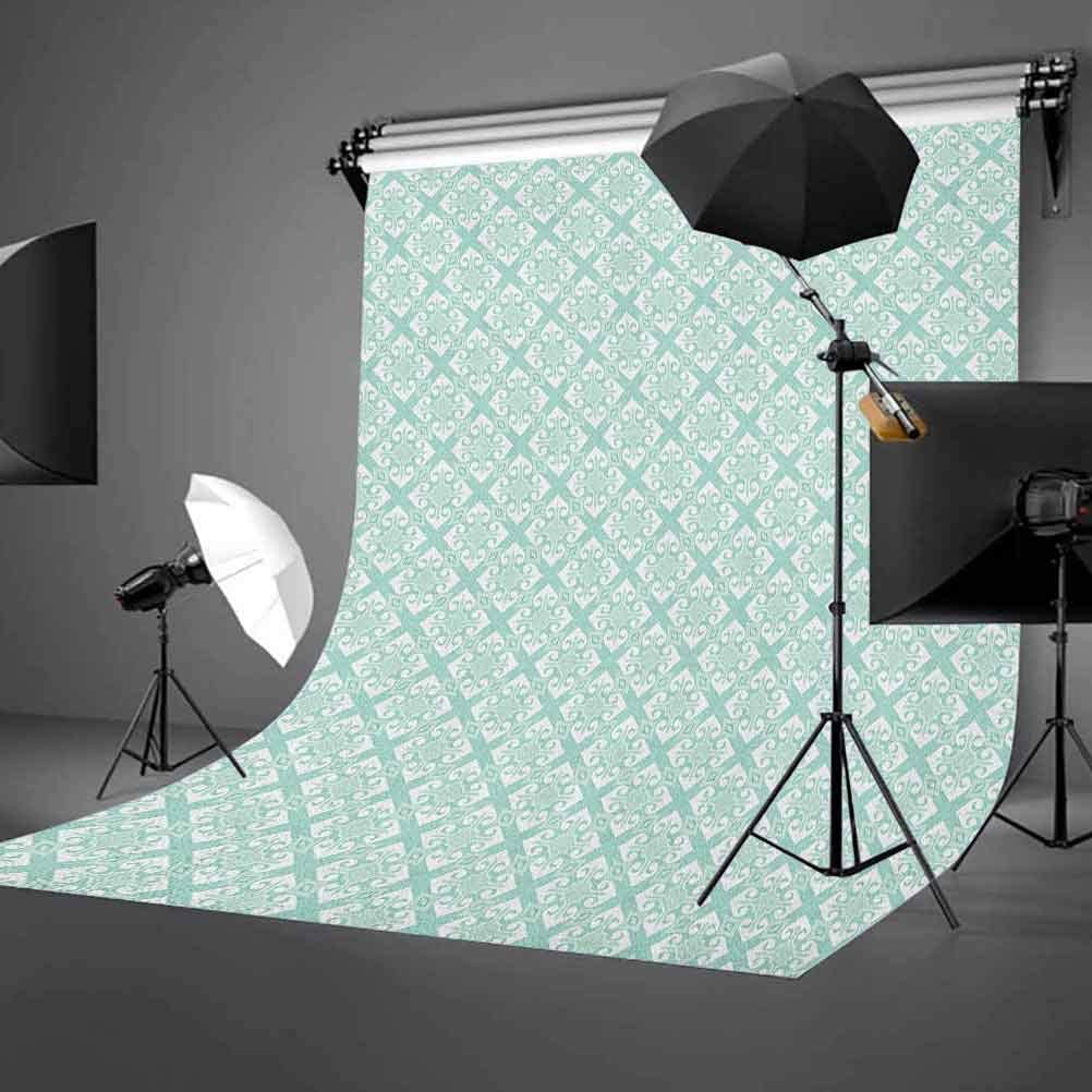 7x10 FT Narwhal Vinyl Photography Backdrop,Floral Patterned Narwhal Whale and Fish Psychedelic with Abstract Art Inspirations Background for Baby Shower Bridal Wedding Studio Photography Pictures